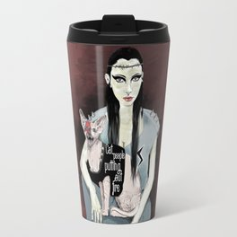 Cat people - Bowie edition. Travel Mug