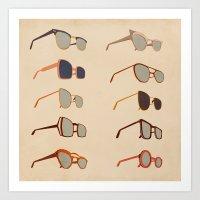 sunglasses Art Prints featuring Sunglasses by Giordano Poloni