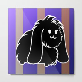 A black bunny Metal Print
