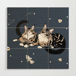 Space Cats Wood Wall Art