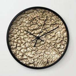 Tree golden textures Wall Clock