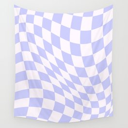 Warped Check - Periwinkle  Wall Tapestry