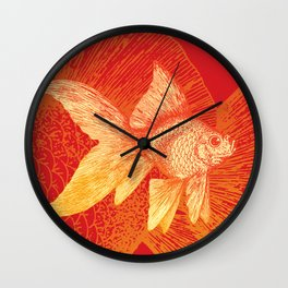 Vintage Gold Fish Wall Clock