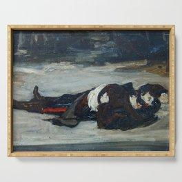 Carolus-Duran - Henri Regnault mort sur le champ de bataille Serving Tray