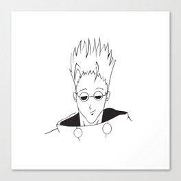 Vash minimalist portrait Canvas Print