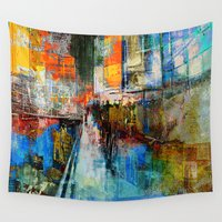 shiva Wall Tapestries featuring 7 th Avenue  by Ganech joe