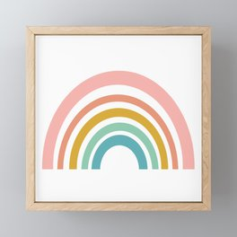 Simple Happy Rainbow Art Framed Mini Art Print