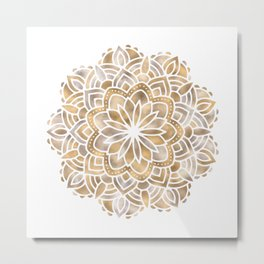 Mandala Multi Metallic in Gold Silver Bronze Copper Metal Print