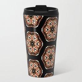 Beautiful Pink and Black Beadwork Inspired Fashion Print Travel Mug
