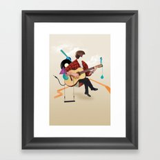 ILOVEMUSIC #1 Framed Art Print