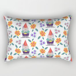 grumpy gnome pattern Rectangular Pillow