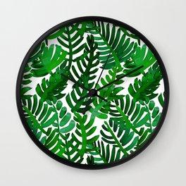 Round Palm Green Wall Clock