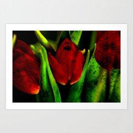 Concept flora : The red queen Art Print
