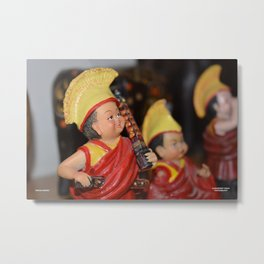 Tibetan Monks in Meditation Metal Print