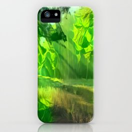 Abstract Forest 2 iPhone Case