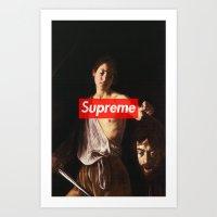 supreme Art Prints featuring Supreme by Mikayla Lapierre