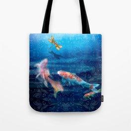 The Koi Damsel Tote Bag