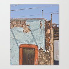 Peeled and worn in Mexico Canvas Print