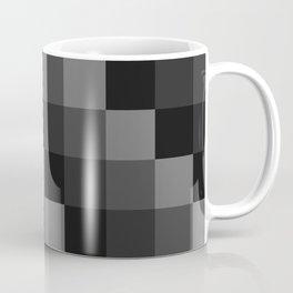 Four Shades of Black Square Coffee Mug