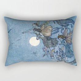 """Elves"" Fairy Tale Art by Edmund Dulac Rectangular Pillow"