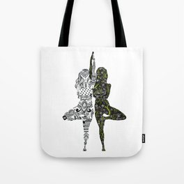 Yin Yang duality interconnected Tote Bag