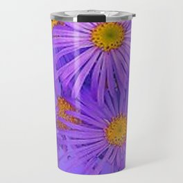 LAVENDER PURPLE ASTER FLOWERS ART Travel Mug