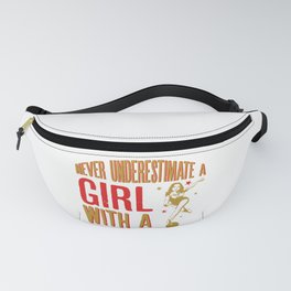 Never Underestimate A Girl With a Bowling Ball design Fanny Pack