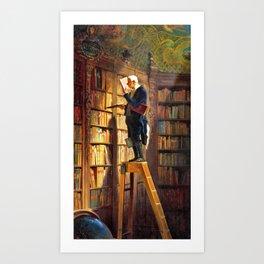 The Bookworm - Carl Spitzweg Art Print