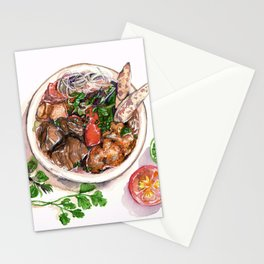 """Bun rieu"" - Noodle with freshwater crab Stationery Cards"