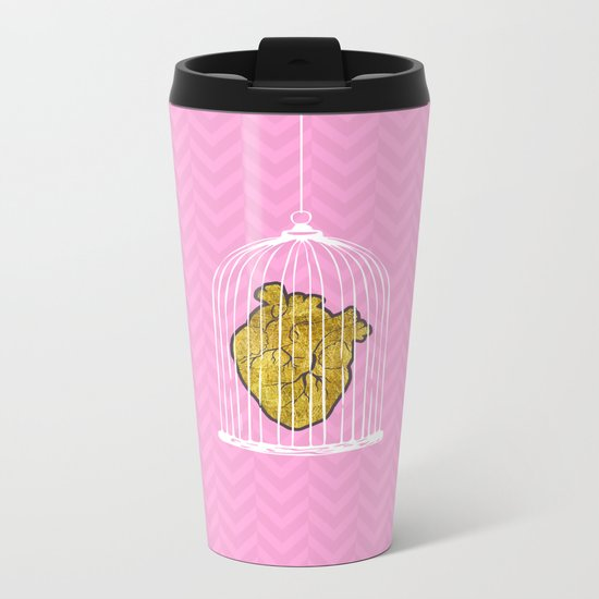 The Caged Heart Metal Travel Mug