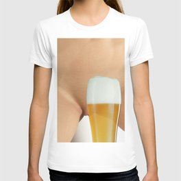 Beer and Naked Woman T-shirt