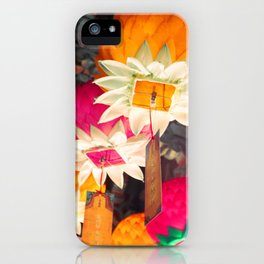 Flower Lanterns iPhone Case