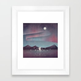 Descendant Of The Northern Lights Framed Art Print