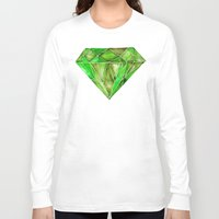 geode Long Sleeve T-shirts featuring Peridot by Cat Coquillette