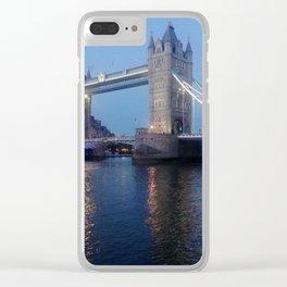Tower Bridge at dusk Clear iPhone Case