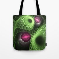 fractal Tote Bags featuring Fractal by nicky2342