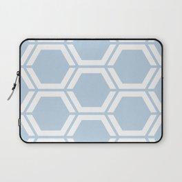 Beau blue - heavenly - Geometric Polygon Pattern Laptop Sleeve