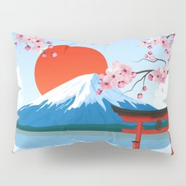 Japan Landscape Pillow Sham