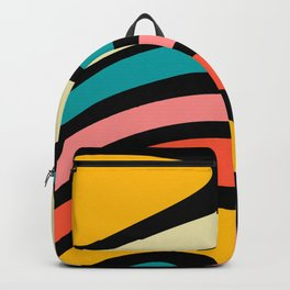 Retro, Colorful, Abstract, Rainbow, Pattern Backpack