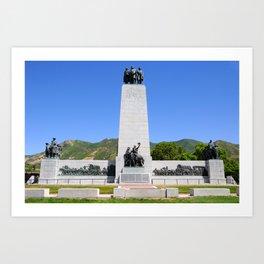 This is the Place Monument - Salt Lake City - Utah Art Print