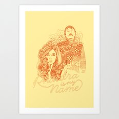 Phaedra is My Name - Burnt Orange Art Print