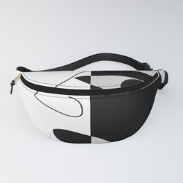 Black and white face Fanny Pack