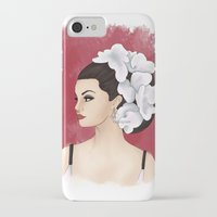 selena gomez iPhone & iPod Cases featuring Selena by Quinn
