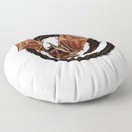 Spiral Dragon over Poenari Castle Floor Pillow