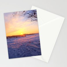 Snowed in peat fields Stationery Cards