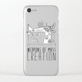 Weapons Of Mass Creation - Sewing Clear iPhone Case