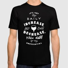 Bruce Says: Decrease MEDIUM Black Mens Fitted Tee