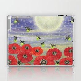 moonlit poppies, fireflies, and snails Laptop & iPad Skin