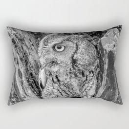 Echo the Screech Owl by Teresa Thompson Rectangular Pillow