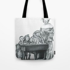 In which a cosmonaut is rendered quizzical Tote Bag